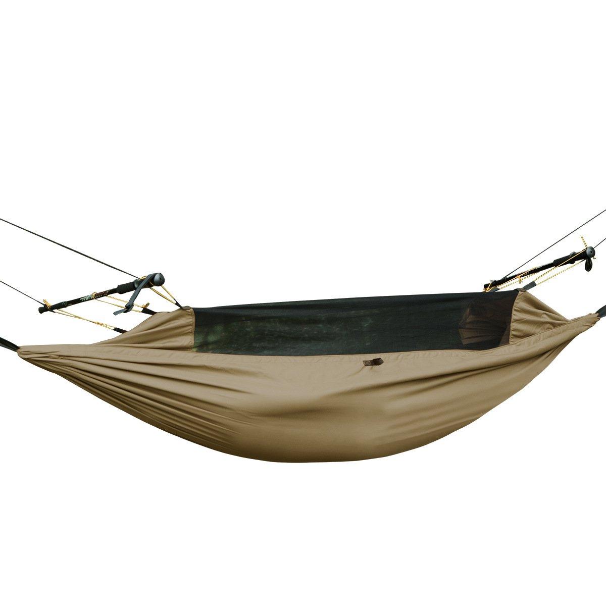 FREE SOLDIER Survival Outdoor multifunción portátil colgar cama con  mosquitera ligero Tactical paracaídas hamaca 388b06e64a3