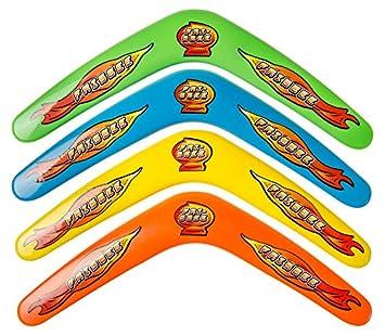 Spielzeug & Modellbau (Posten) Bumerang Boomerang 30cm 4 Farben Wurfspiel Fangspiel Strand Tombola Spiele