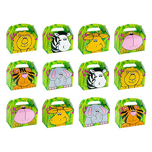 Safari Zoo Animals Treat Gift Boxes Birthday Party Favor Jungle Theme 12 Pack By Super Z Outlet (Birthday Party Favors Boxes compare prices)