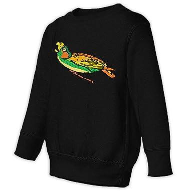 Toddler Juvenile Sweatshirt Coloured Parrot Children Pullover Hoodie Sweater  Black b37767213