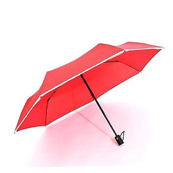 Paraguas automático plegable Paraguas plegable doble tres grandes hombres y mujeres de negocios de refuerzo lluvia