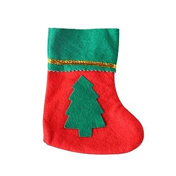 Hemore Navidad Adornos Navidad Calcetines Navidad Regalos Navidad Ornamentos árbol pequeño Modelo 1 Paquete: Amazon.es: Hogar