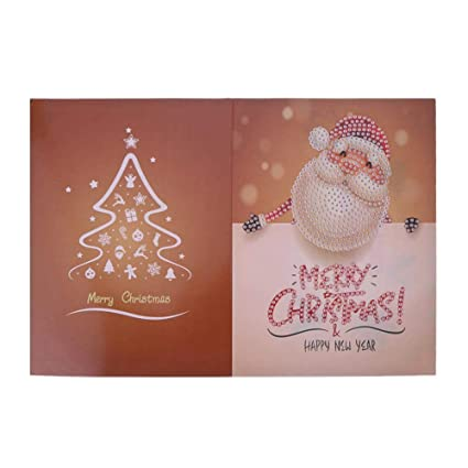 Amazon christmas greeting cards with 5d diy diamond painting christmas greeting cards with 5d diy diamond paintingdiy your own card for family and m4hsunfo