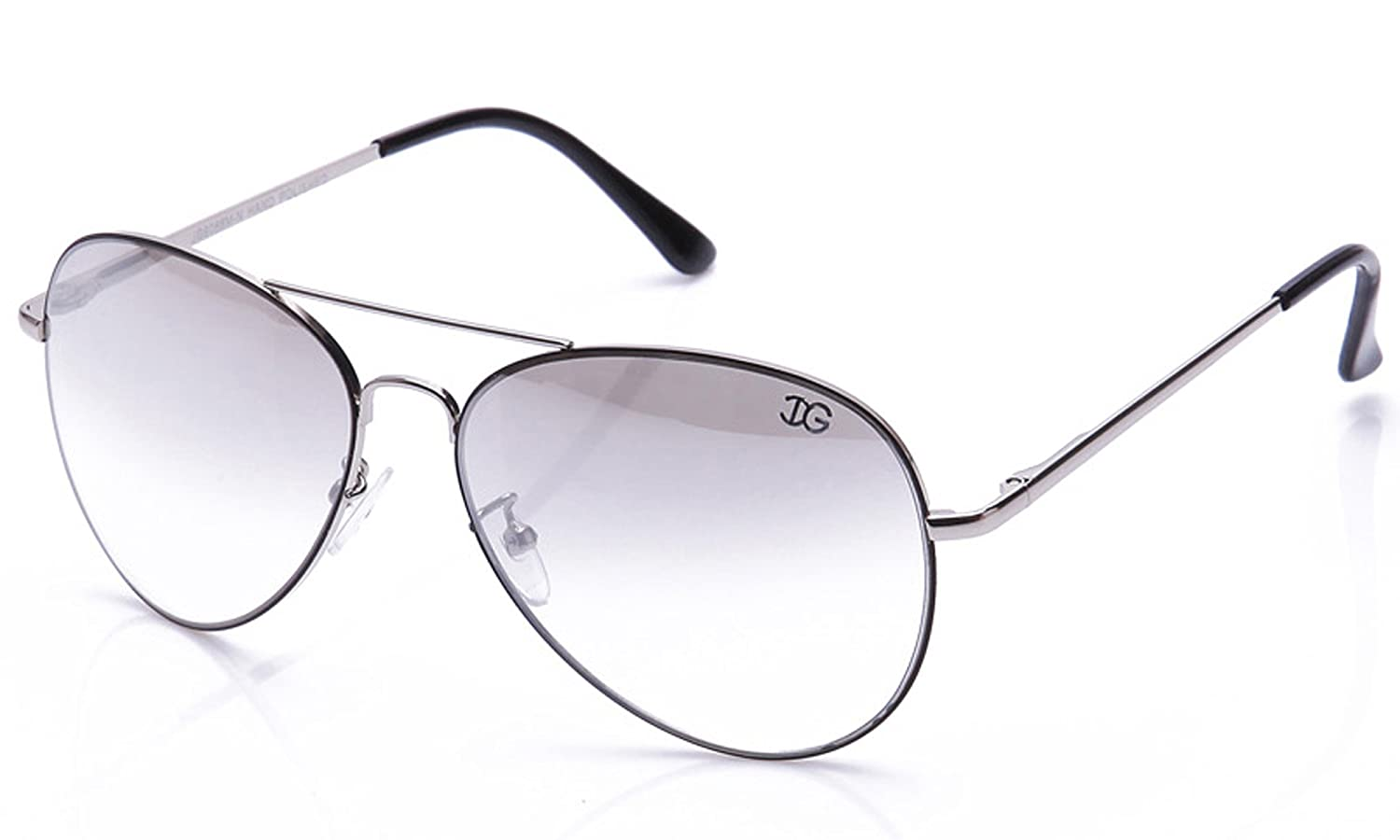 IG Metal Fashion Aviator Style Neon Colors Classic Metal Frame Sunglasses in Black/Silver