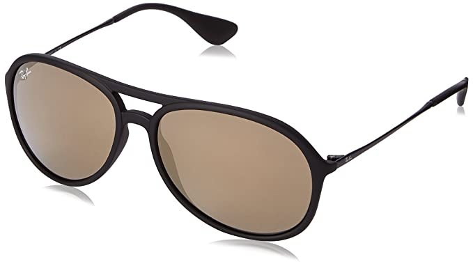 Amazon.com: Ray-Ban Alex – Rubber Negro Espejo de color café ...