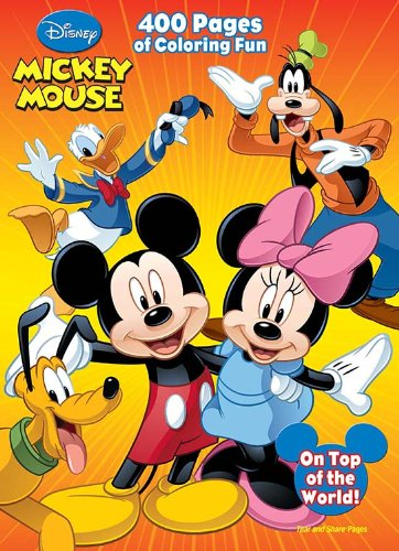 Disney Mickey Mouse: 400 Pages of Coloring Fun