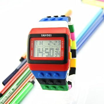 WMWMY Marcado Dama LED Digital Pulsera Unisex Relojes Mujer Relojes Infantiles Deportes,F