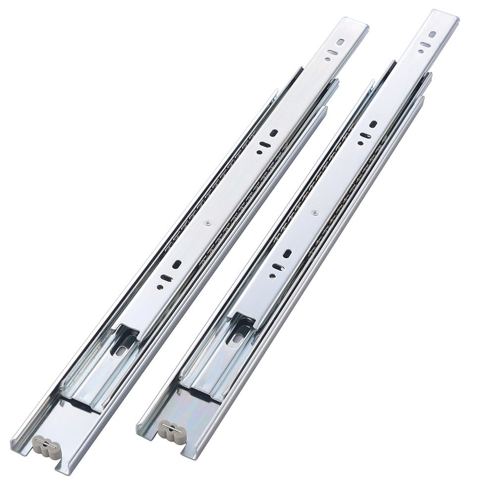 "KINGO Home 2 Pair of 18 inch Full Extension Stainless Steel Hardware Ball Bearing Side Mount Drawer Slides, Available in 10'' 12'' 14'' 16'' 18"" 20"" Lengths by KINGO HOME (Image #3)"