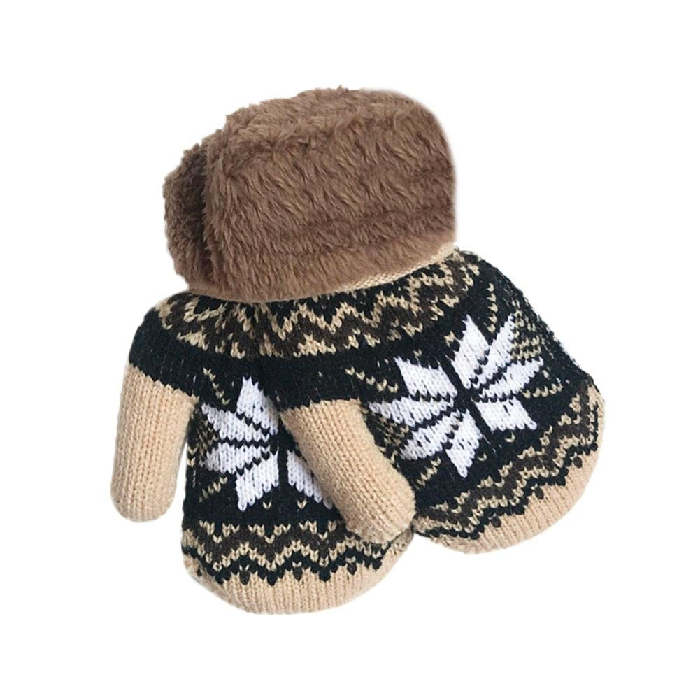 Minshao Infant Baby Girls Boys Cute Snowflake Winter Warm Gloves For 1-4 Years old