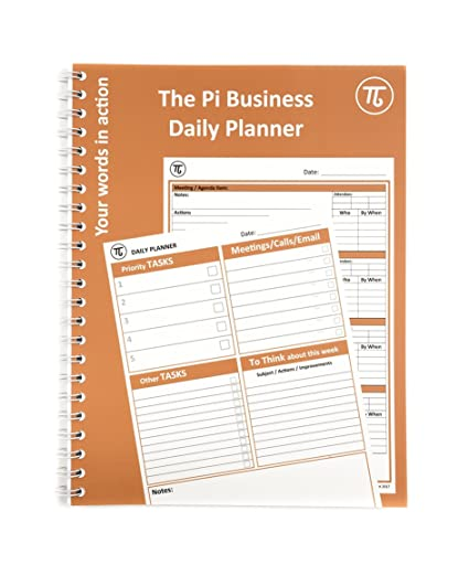 graphic about The Daily Planner known as Pi A4 Place of work Day-to-day Planner Conference Notes Organiser
