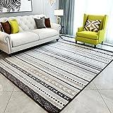 Carpets Rugs Carpet Rug Carpet Living Room European Flannel Lattice Bedroom Coffee Table Sofa Room Bedside Home Carpet (Color : B#, Size : 130 * 190cm(51 * 75inch))