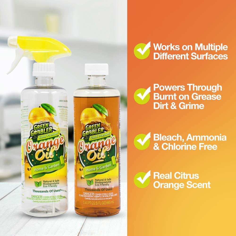 Green Gobbler All Natural Orange Oil Concentrate - 22.5 oz (D-Limonene) by Green Gobbler (Image #2)
