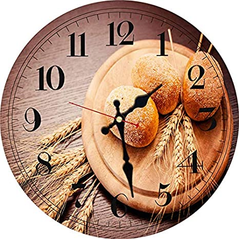 Kamas Vintage Wall Clocks Food Tableware Design Silent Kitchen Room Decor Home Decor Watches Large Wall