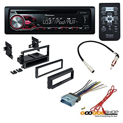 amazon com car cd stereo receiver dash install mounting kit wire  car cd stereo receiver dash install mounting kit wire harness radio antenna for buick cadillac chevrolet