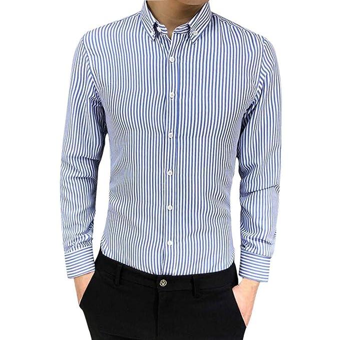 hot sale online 379b1 e3b46 ASHOP - Camicia Camicia Uomo Slim Fit Maniche Lunghe Uomo ...