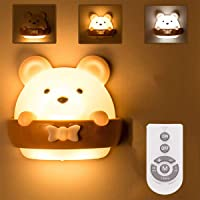 Baby Night Light, DawnTrees Bear Night Light for Kids, Cute Mini Bear Light With Remote Control, Timer and Magnetic…