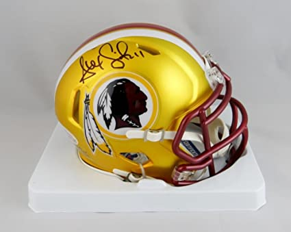 Alex Smith Signed Washington Redskins BLAZE Mini Helmet - Beckett Auth Black 37ab77047