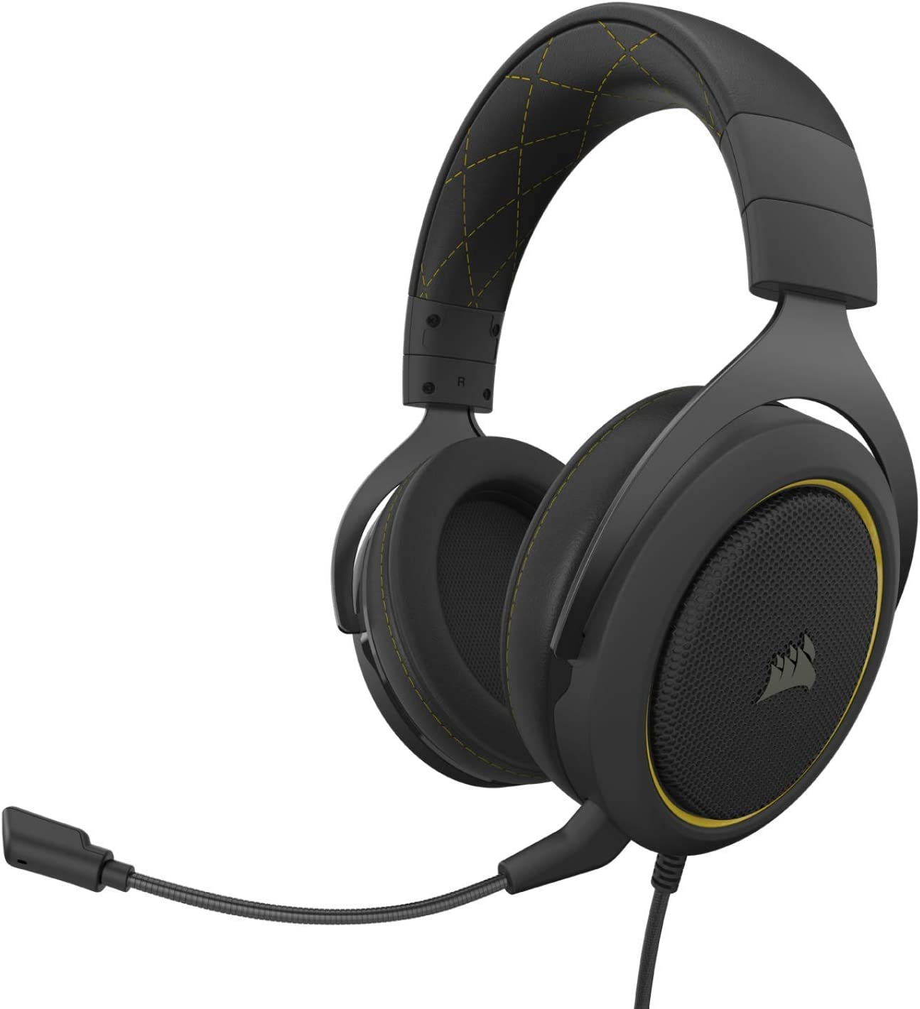Corsair HS60 Pro – 7.1 Virtual Surround Sound PC Gaming Headset w/USB DAC - Discord Certified Headphones – Compatible with Xbox One, PS4, and Nintendo Switch – Yellow
