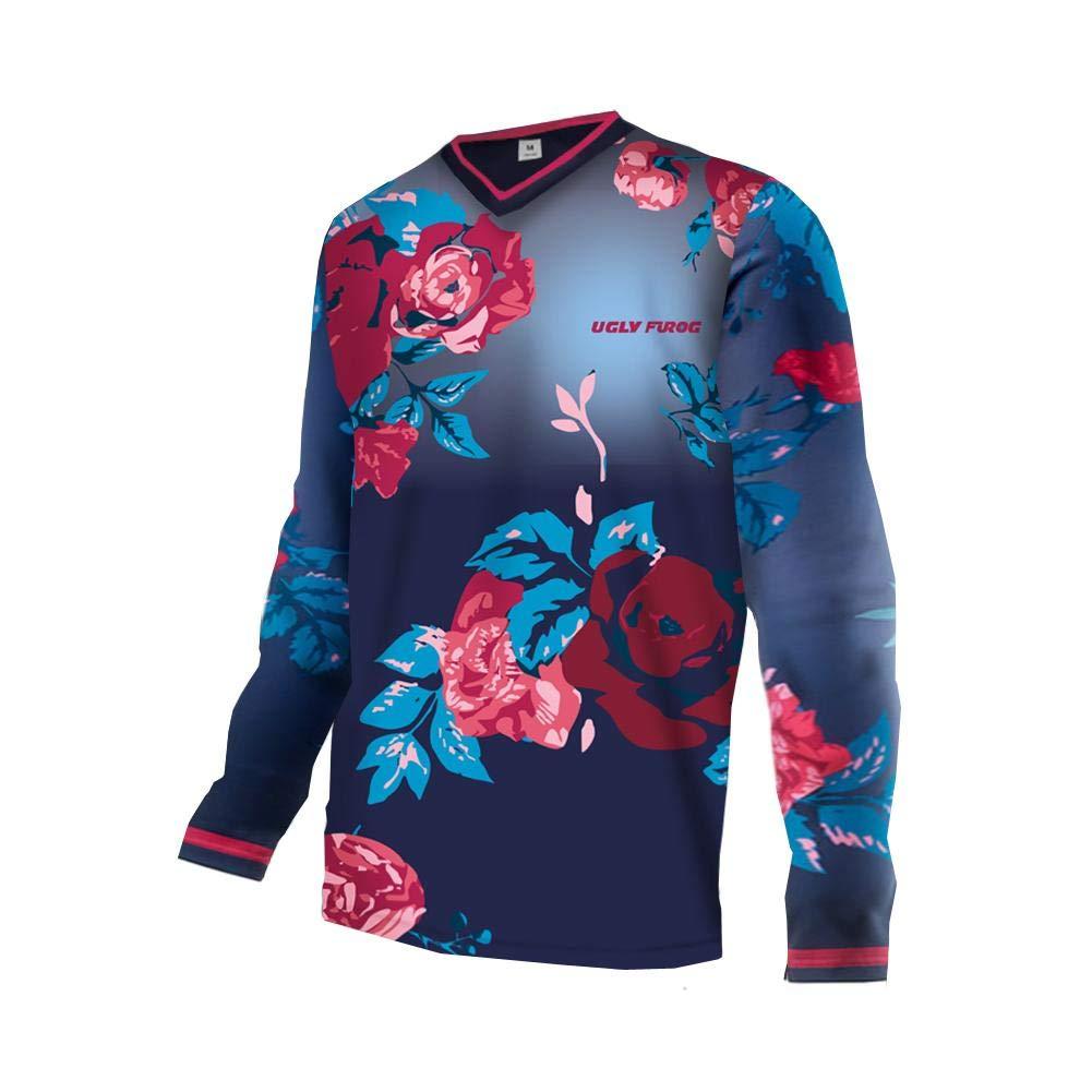 Uglyfrog 2019 April MTB Downhill Jersey Trikot Schutzkleidung Herren Kurzarm/Langarm Rennrad Radtrikot Motorräder T-Shirt Top Funktionswäsche DEHerDownMK01
