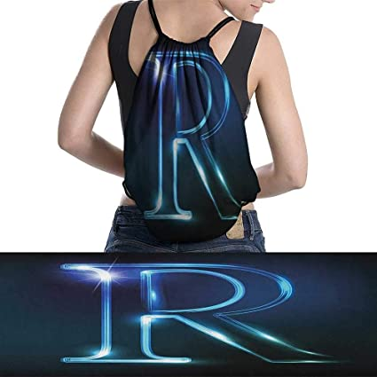 f70f54314866 Amazon.com: homehot R Backpack Gym Bag WritingLanguageThemed Large ...
