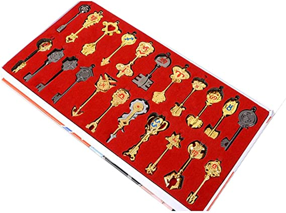 Fairy Tail Lucy Nueva Colecci¨®n de Oro del zodiaco Keys + Cadena Set Ver.4: Amazon.es: Juguetes y juegos