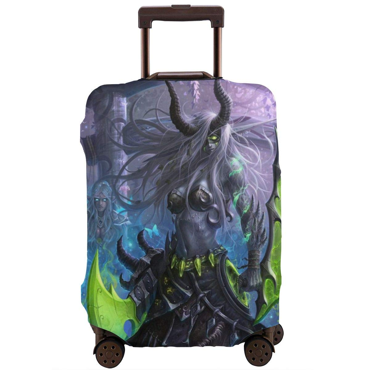 Travel Luggage Cover Night Elf Demon Hunter Travel Luggage Cover Suitcase Protector Fits 26-28 Inch Washable Baggage Covers