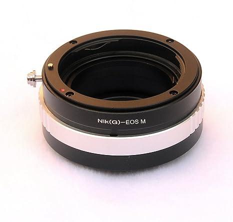 Fotasy AEMNG Pro Nikon G-Type Lens to Canon EOS M EF-M Mount Mirrorless  Camera Adapter