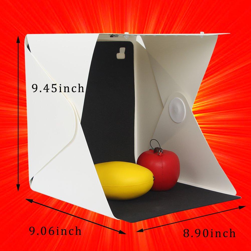 Portable Foldable Photo Studio with Light Mini White Photo Studio Box by Hierkryst by hierkryst (Image #2)