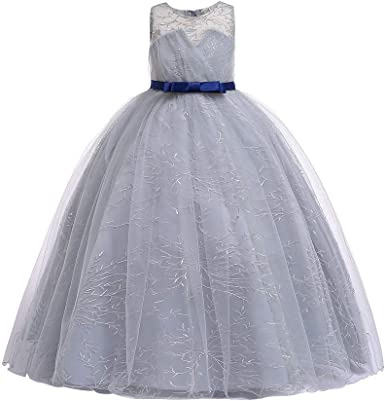 Kids Girls Dresses Bridesmaid Flower Formal Sleeveless Dress Occasion Wedding