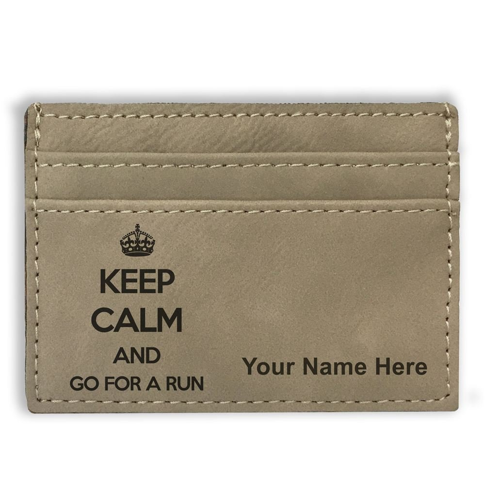 Personalized Engraving Included Keep Calm and Go For A Run Money Clip Wallet