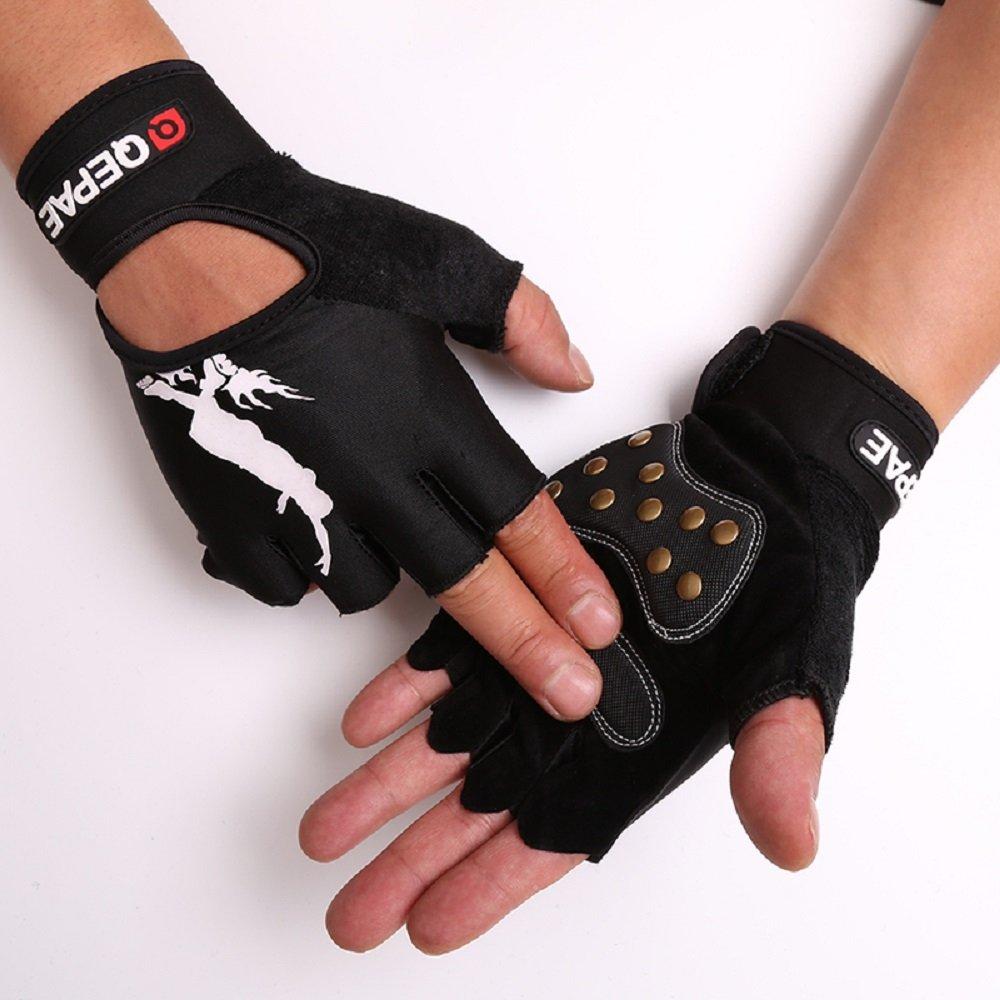 TofernユニセックスProfessional Half FingerグローブLuminous指なし手袋のスケートボードスケート B07519VC6B XL: Palm width 3.5~4