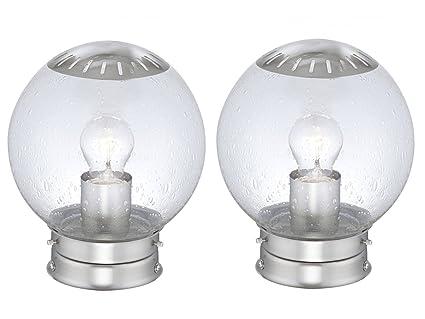 Set di lampade per esterni luci da giardino bowle acciaio inox