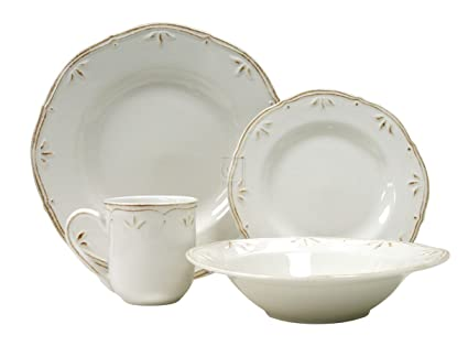 Thomson Pottery Sicily White 16 PC Dinnerware Set Service For 4  sc 1 st  Amazon.com & Amazon.com | Thomson Pottery Sicily White 16 PC Dinnerware Set ...