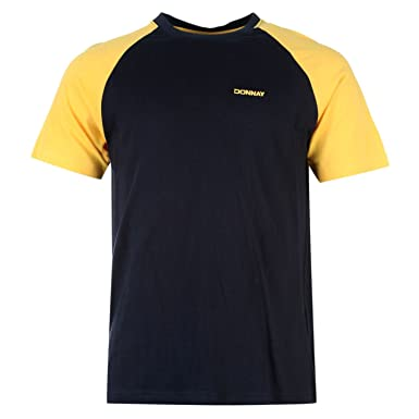 DONNAY MENS RAGLAN T SHIRT SHORT SLEEVES TEE TOP CREW NECK CASUAL LIGHTWEIGHT