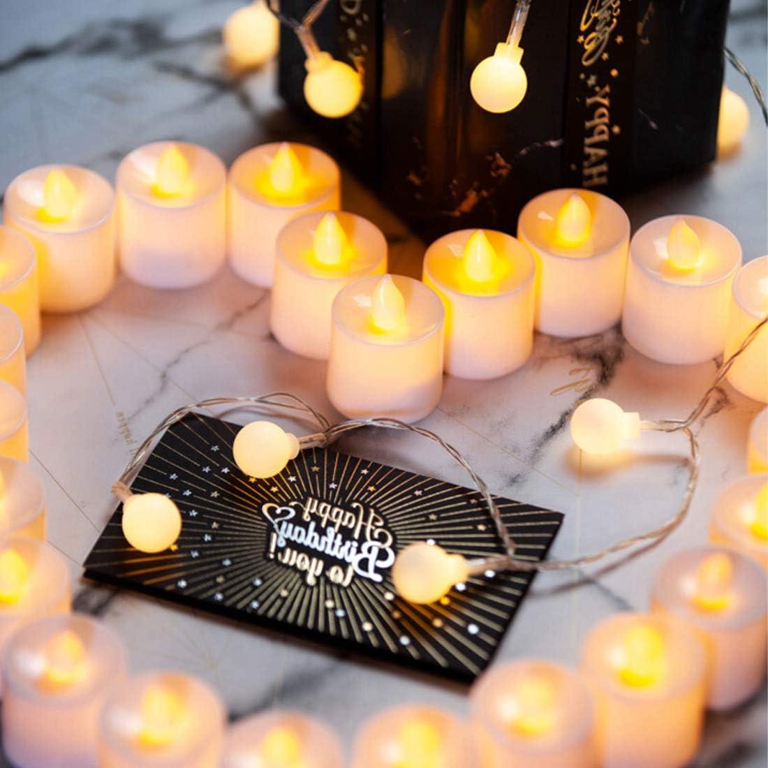 anniversaires. sans go/ût et sans scintillement pour la d/écoration de tables de banquets et mariages Lampe Bougie LED sans Flamme,TECHVIDA 24 PCS Bougie Chauffe Plat Led Sans fum/ée