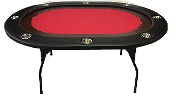Mesa Plegable de Poker 8 Personas roja: Amazon.es: Juguetes y ...