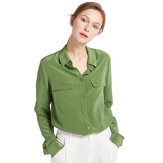 Women's 70s Shirts, Blouses, Hippie Tops LilySilk Womens 100% Silk Blouse Long Sleeve Ladies Shirts 18 Momme Silk  AT vintagedancer.com