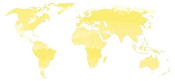 Carte Du Monde Jaune.I Love Wandtattoo Ce Sticker Mural De 10739 Logement Sticker