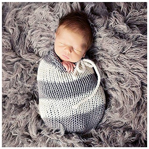 Binlunnu Newborn Baby Photography Props Boy Girl Crochet Costume Outfits Cute Sleeping -