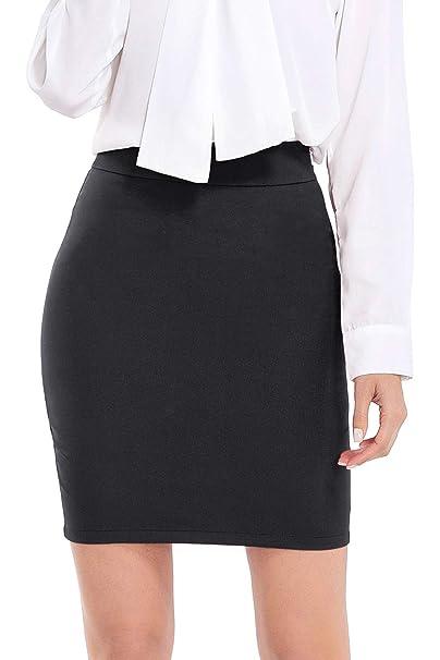 b2e067b477a AUQCO Women Business Bodycon Mini Pencil Skirt Above The Knee 19 quot  ...