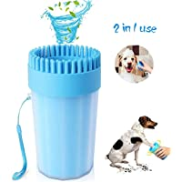 Gnker 2020 Upgrade Dog Paw Cleaner, Portable Pet Cleaner with Bath brush, Cleaning Brush Cup Soft Silicone Bristles Brush Dog Feet Washer (6.5 Inch)