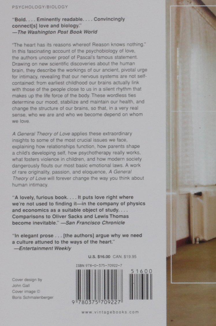 A General Theory of Love: Thomas Lewis, Fari Amini, Richard