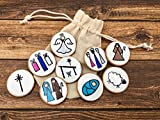 Nativity Story Starters on Wooden Discs