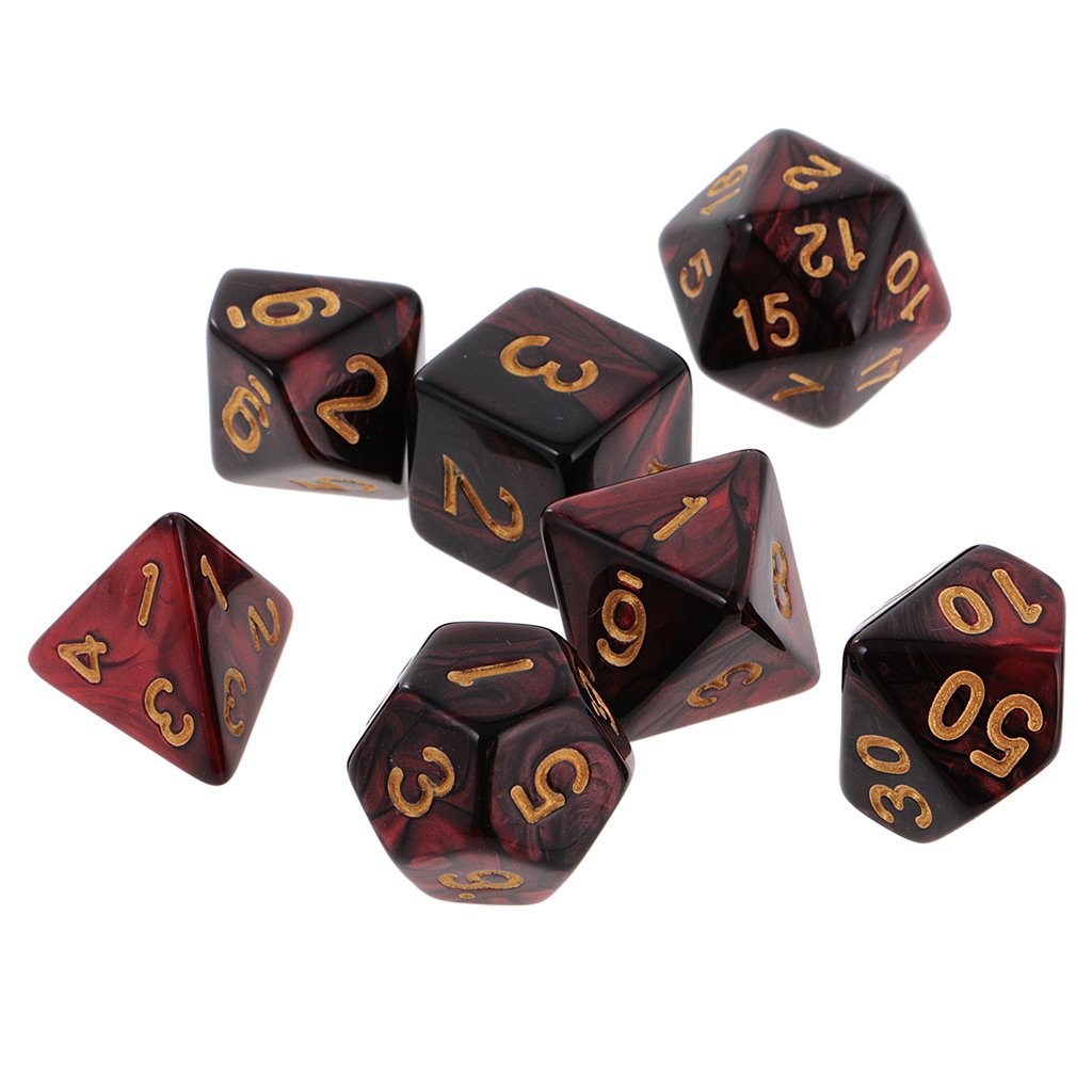 【希少!!】 MagiDeal Polyhedral 7-Die Dice B072XKLFGX D10 D8 16mm for Dungeons and Dragons D20 D12 D10 D8 D6 D4 Red Black B072XKLFGX, 芦屋市:3965abcf --- efichas.com.br