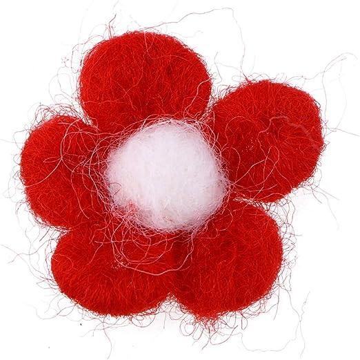 Healifty Juguete de Manualidades de Ni/ños de Fieltro de Flor Juguete de N/úmero para Ni/ños