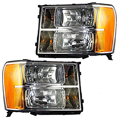 Driver and Passenger Headlights Headlamps Replacement for GMC Pickup Truck 20980241 25799194