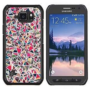 TECHCASE---Cubierta de la caja de protección para la piel dura ** Samsung Galaxy S6 Active G890A ** --Azulejos de piedra rosa Patrón de mármol