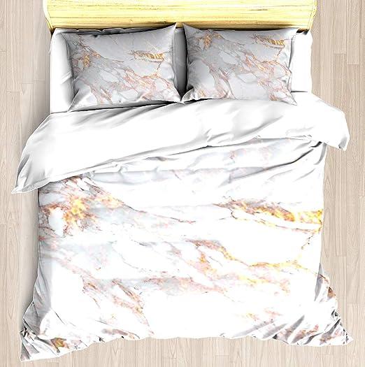 Marble Pattern Bedding Duvet Cover Set Elegant Design Quilt Cover Pillowcase Set
