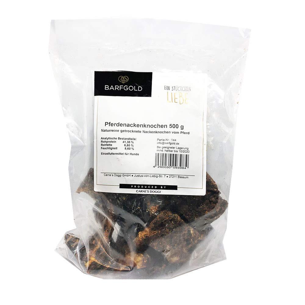prodotto naturale 500 g Ossa di cavallo con residui di carne essiccata 5 pezzi
