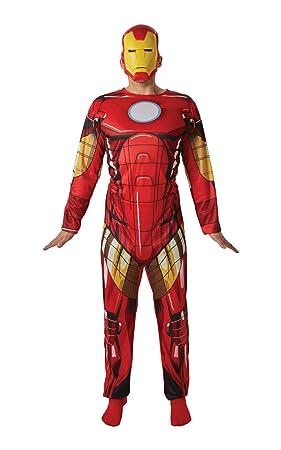 Avengers - Disfraz de Iron Man oficial para adulto, Talla única ...